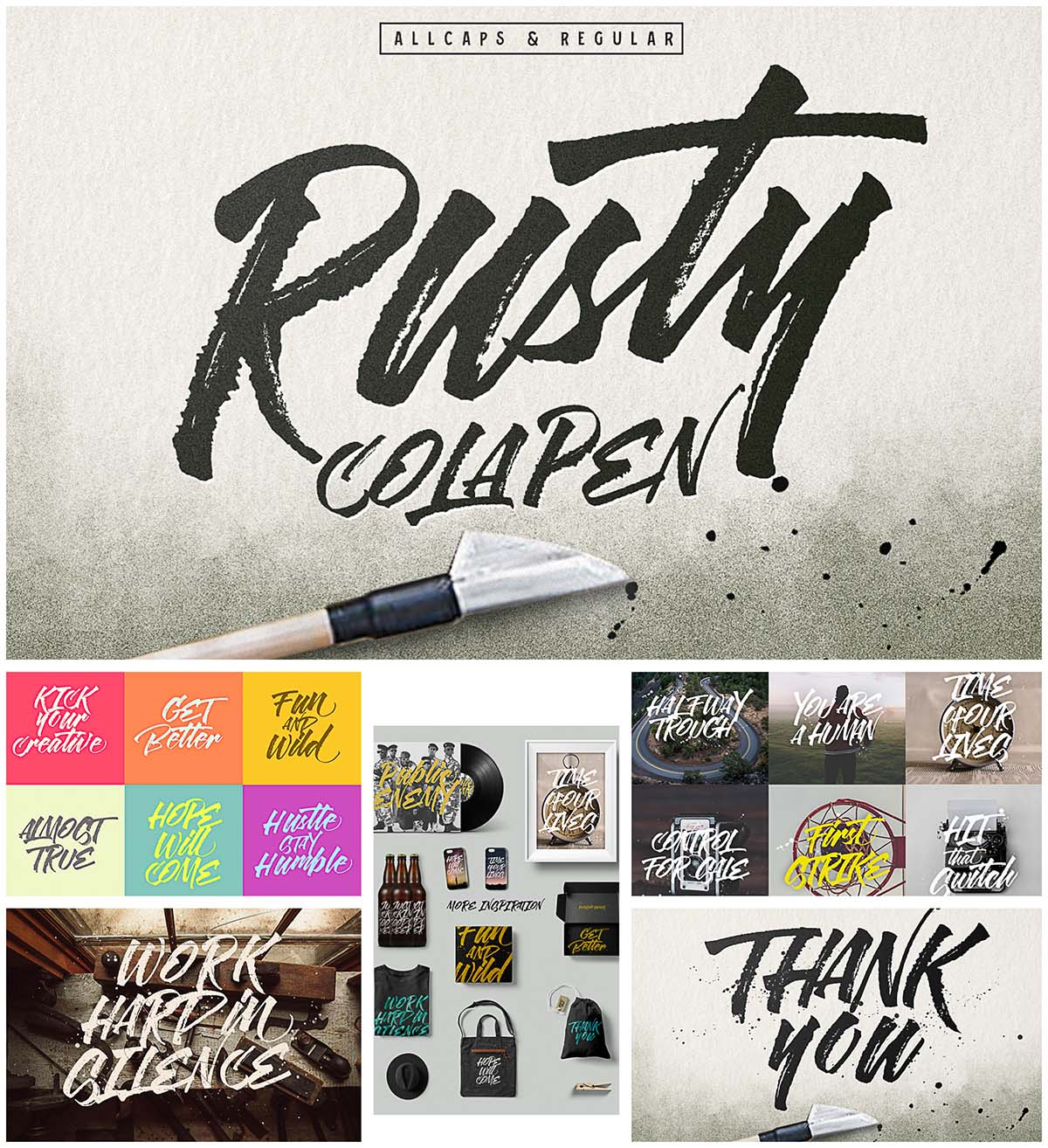 Rusty Cola Pen brush free font