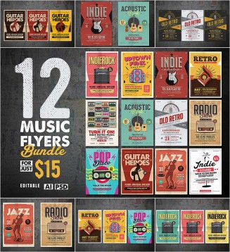 Music flyers and posters collection