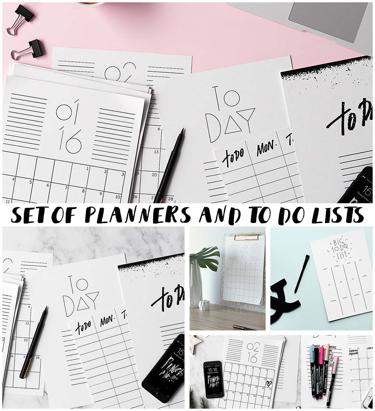 2016 To do lists and planners collection