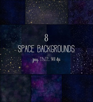 Space backgrounds collection