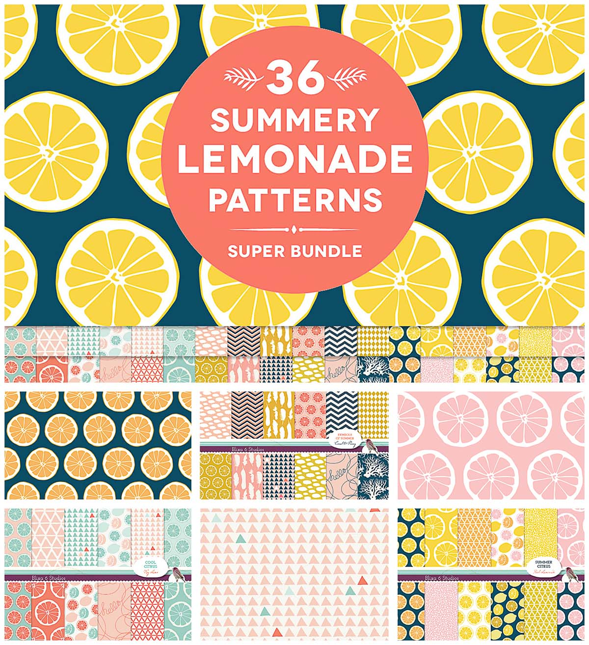 Summer lemonade patterns