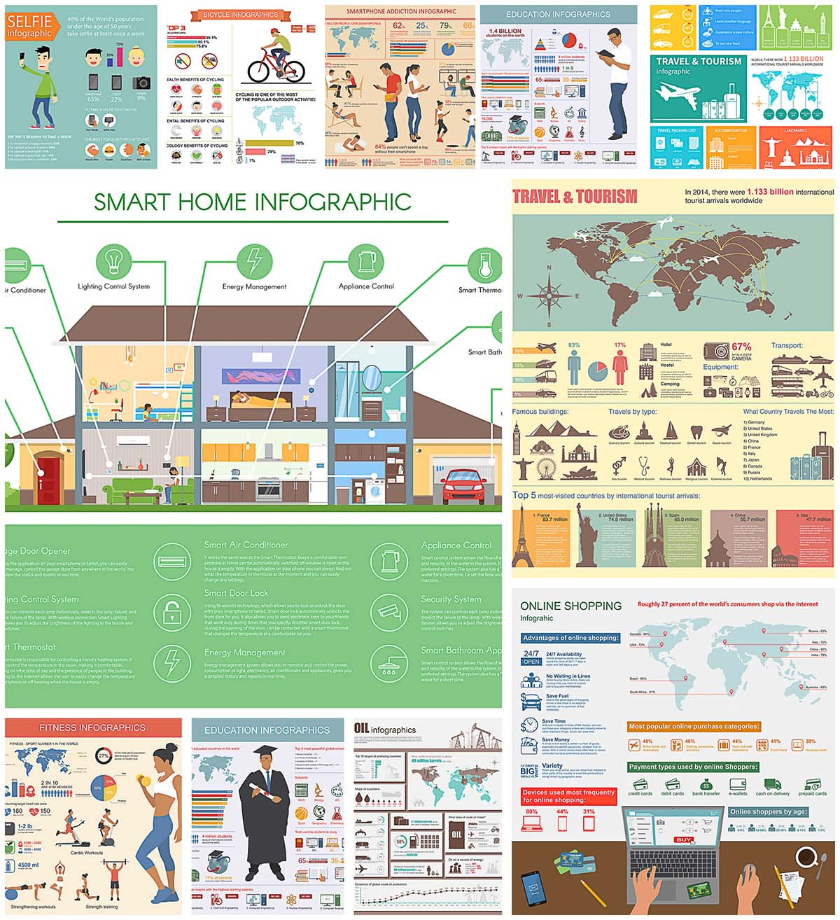 Big collection of infographics