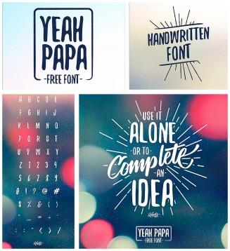 Yeah papa handwritting font