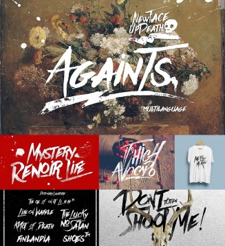 Againts brush font
