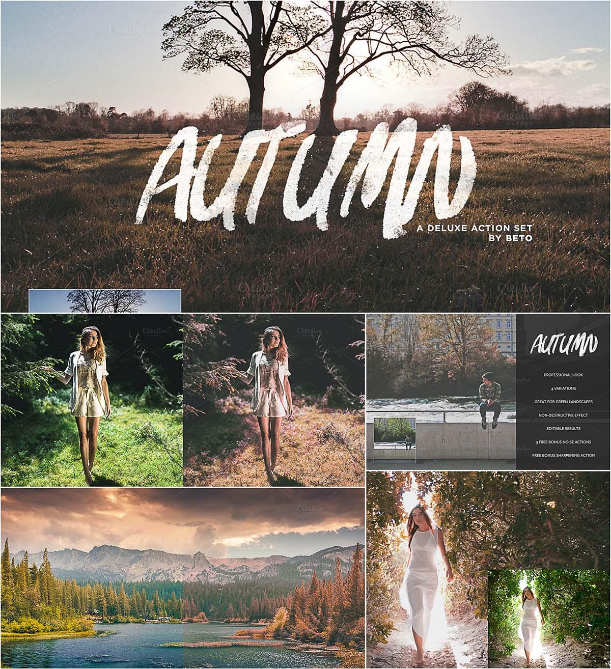 Autumn action effects set