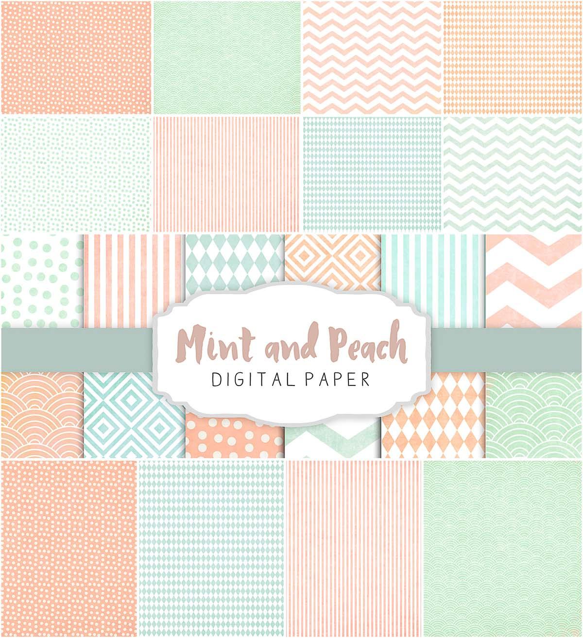 Beige and peach patterns