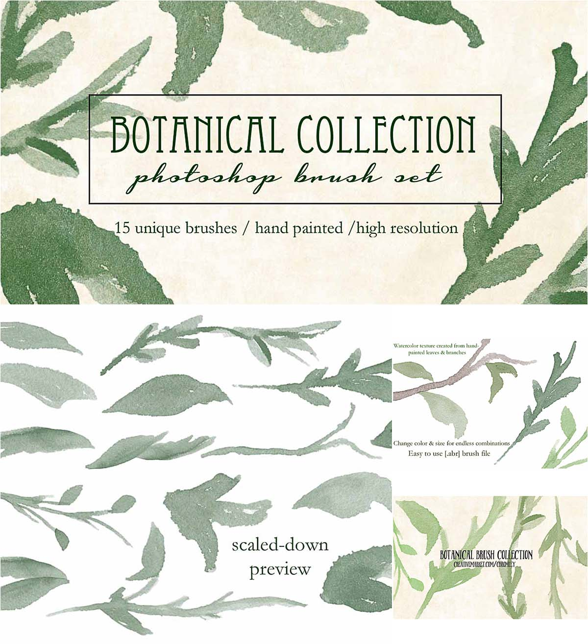 Botanical brush set