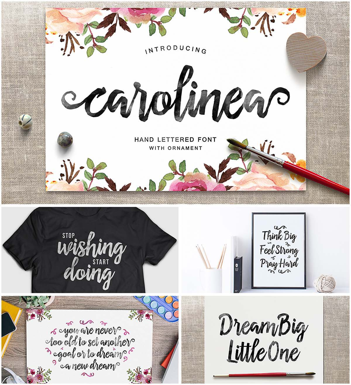 Carolinea hand drawn typeface