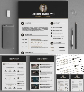 Creative resume editable set