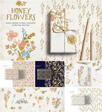 Honey flowers and patterns
