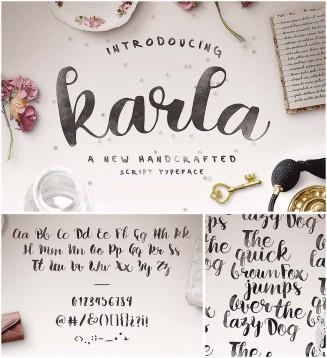 Karla calligraphy font