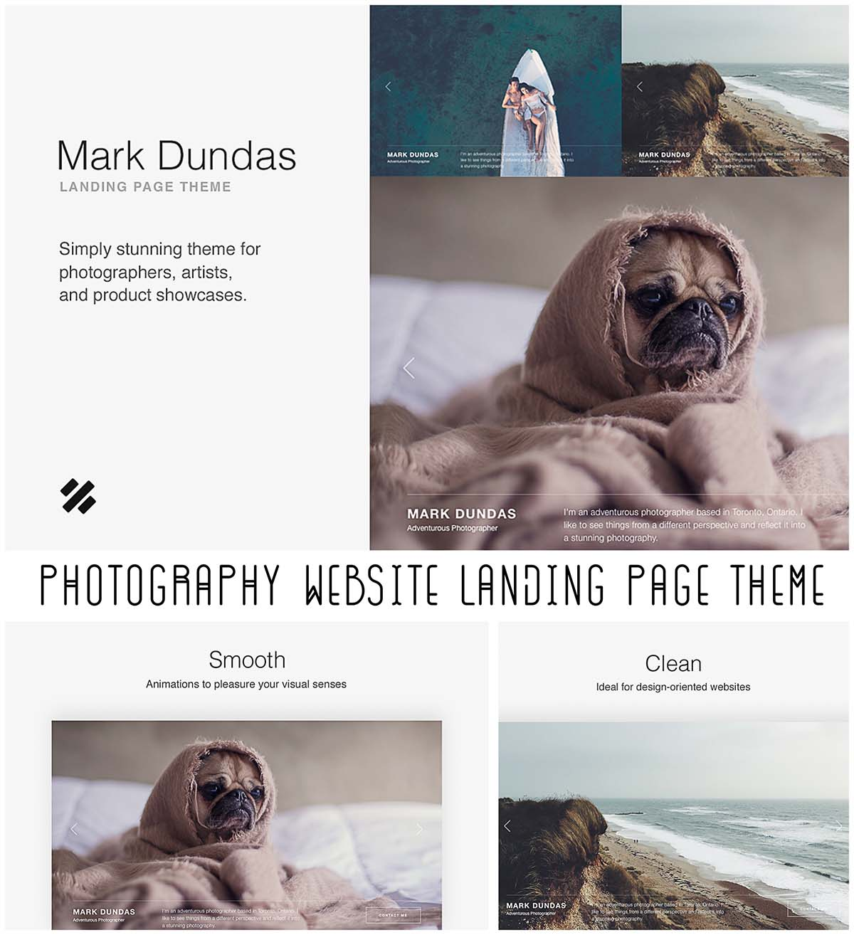 Minimslistic landing page photography
