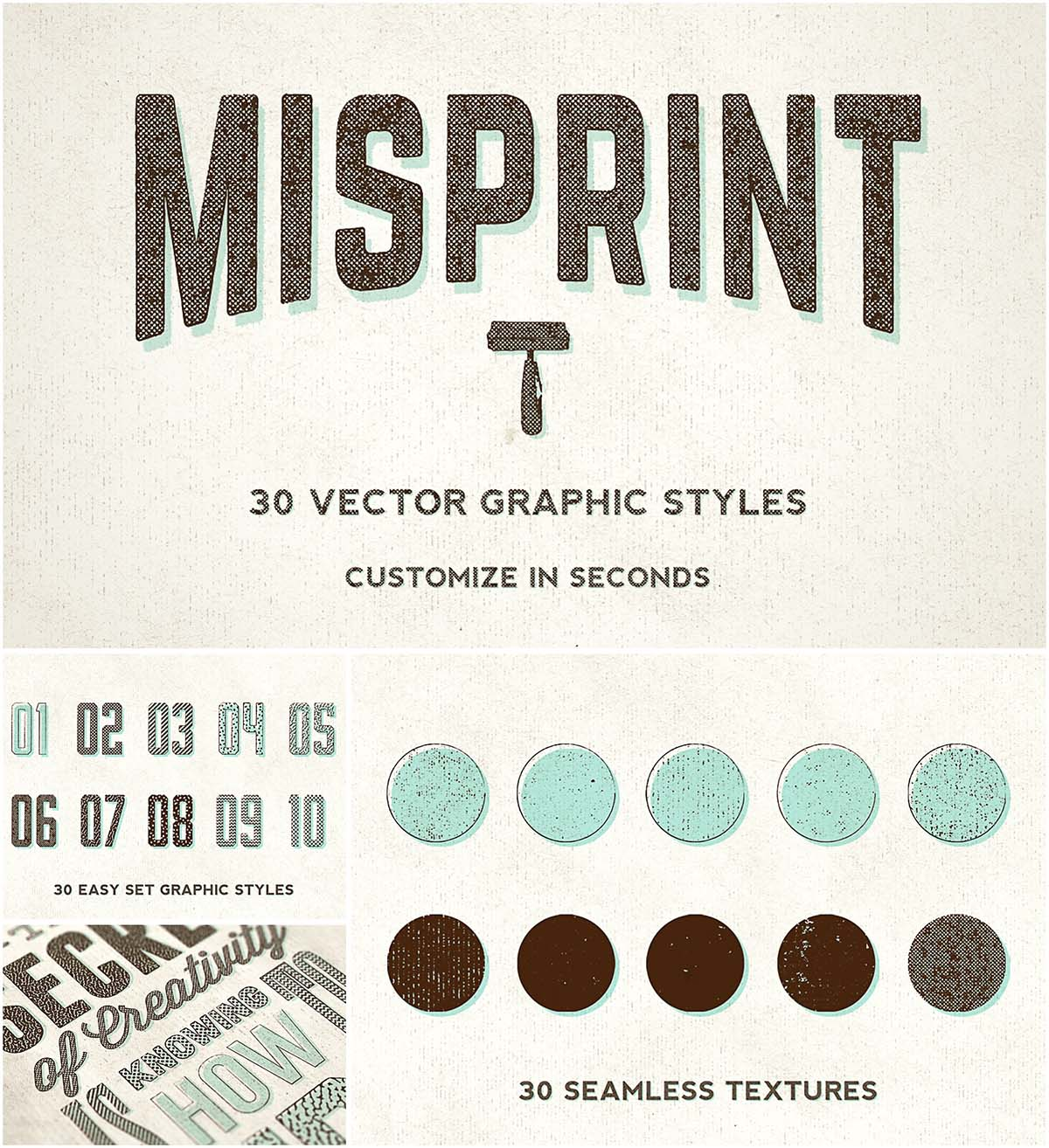 Misprint graphic style set