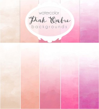 Ombre pink backgrounds