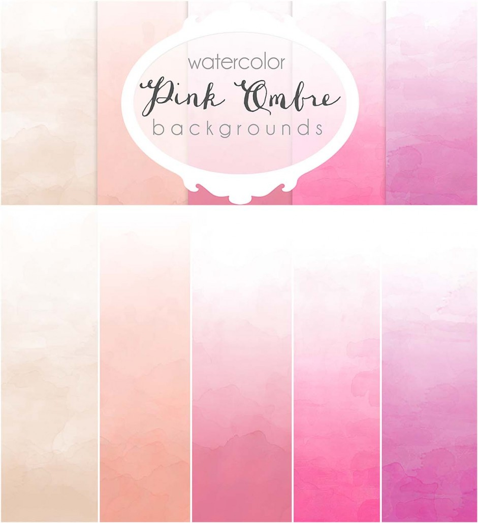 pink ombre watercolor pattern