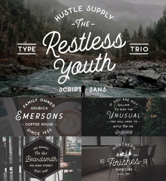 Restless youth retro font