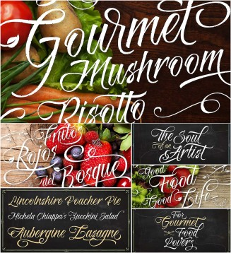 Risotto calligraphy font