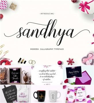 Sandhya elegant script