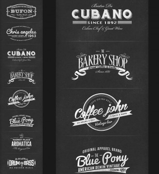 Retro branding labels colllection