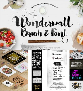 Wonderwall calligraphy brush and font