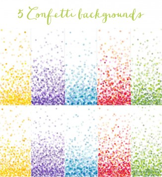 Confetti bright backgrounds