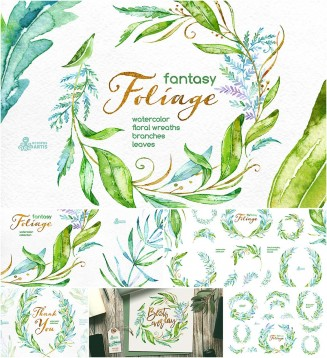 Floral foliage fantasy collection