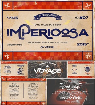 Imperioosa typeface with bonus