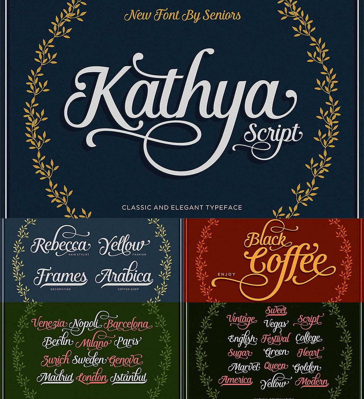 Kathya script calligraphy