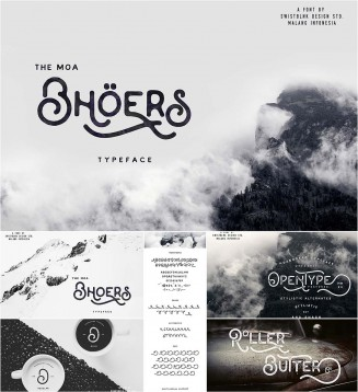 Moabhoers vintage typeface