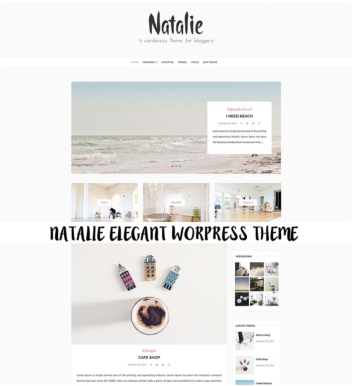 Natalie simple blog theme
