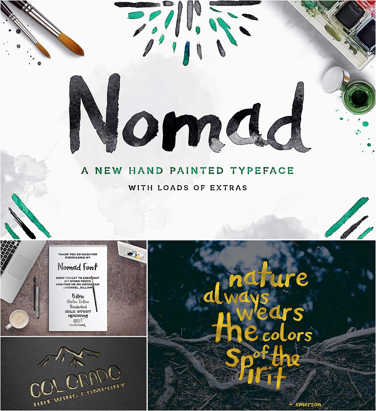 namad hand painted font