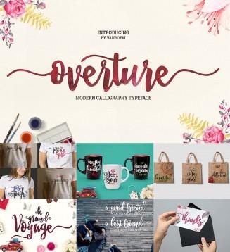 Overture brush script