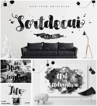 Sortdecai modern brush font