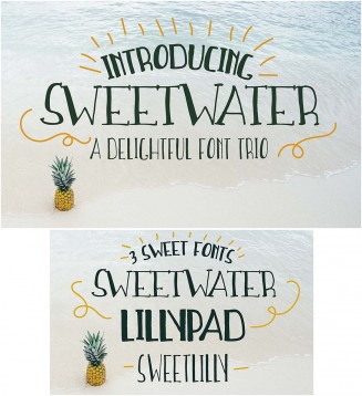 Handwritting fonts sweetwater set