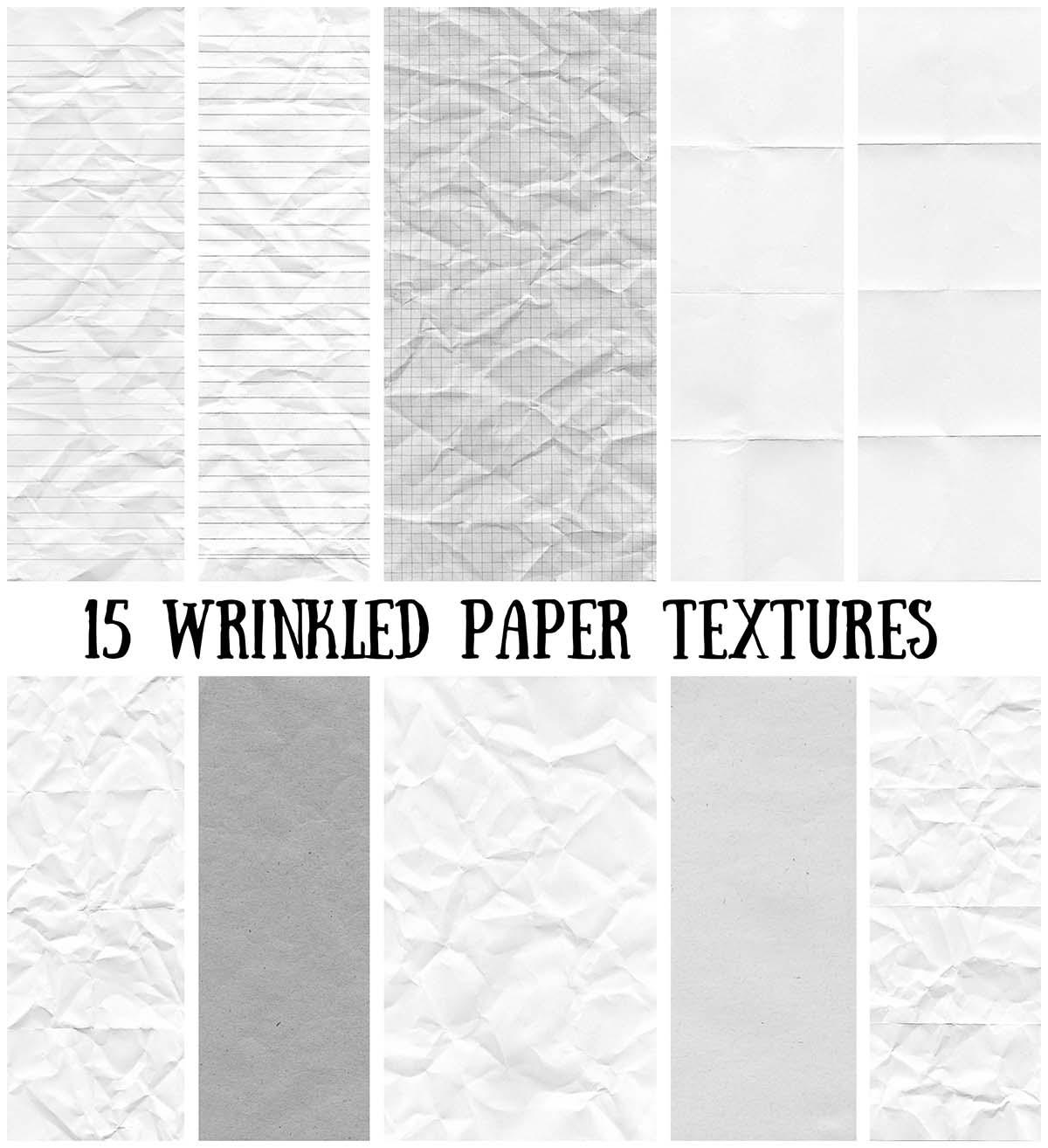 Paper textures set