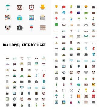 103 Homey icon set