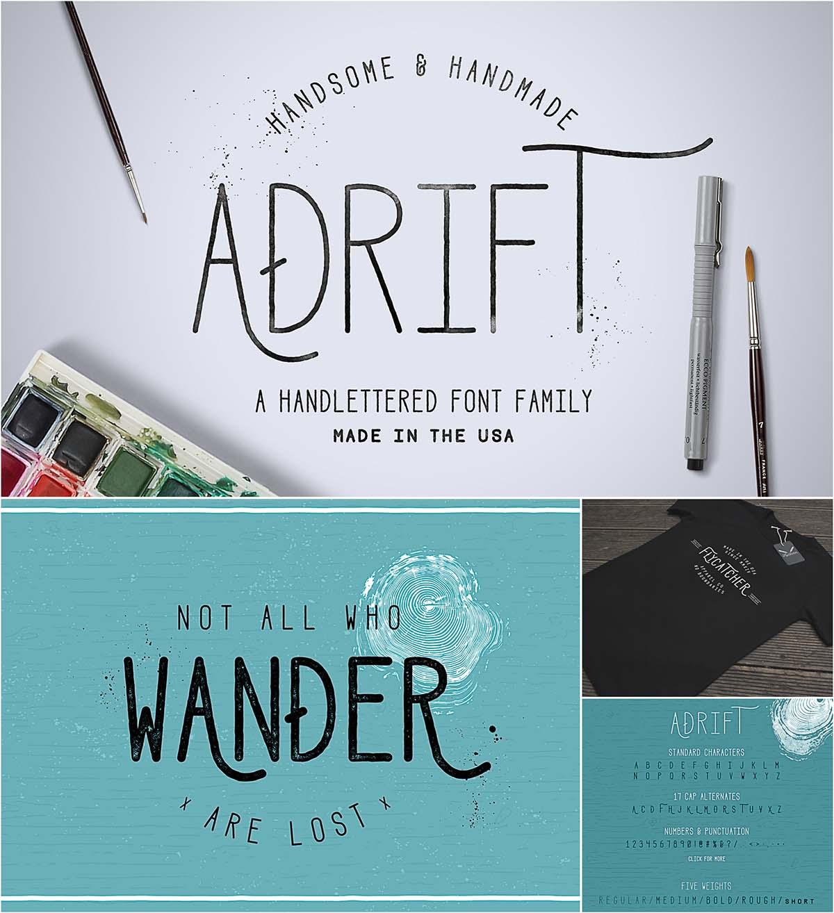 Adrift sans serif font family