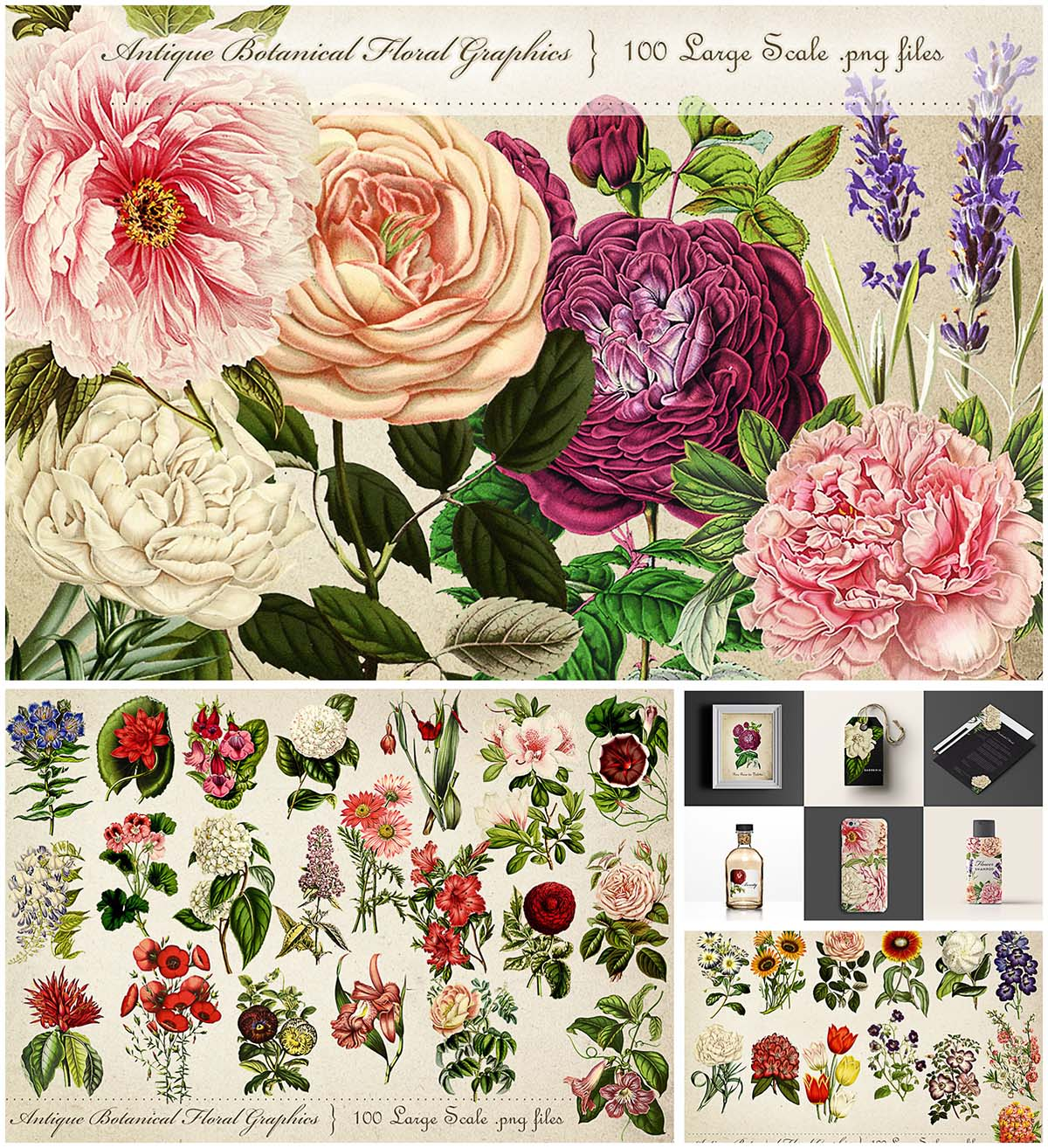 Antique botanicals big bundle
