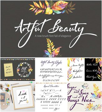 Artful Beauty elegant brush font