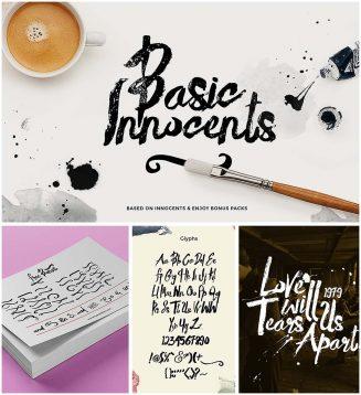 Basic rough brush font