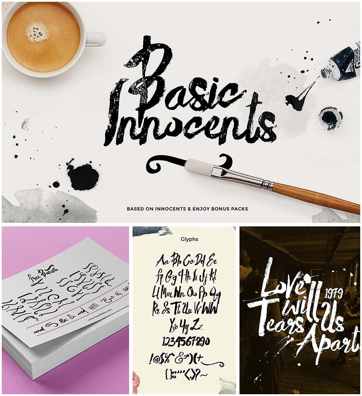 Basic rough brush font   Free download