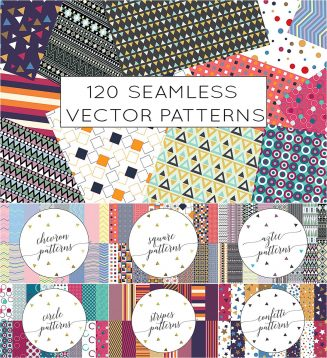 Seamless geometric patterns big collection
