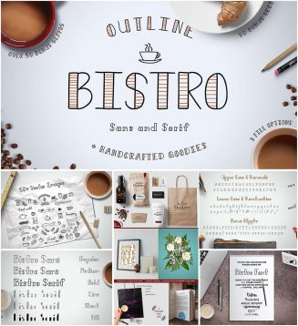 Bistro sans serif font family