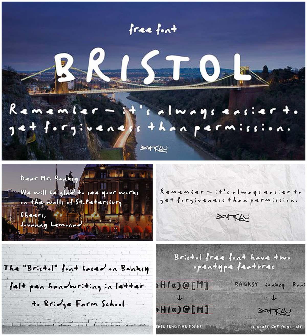 Bristol cyrillic typeface