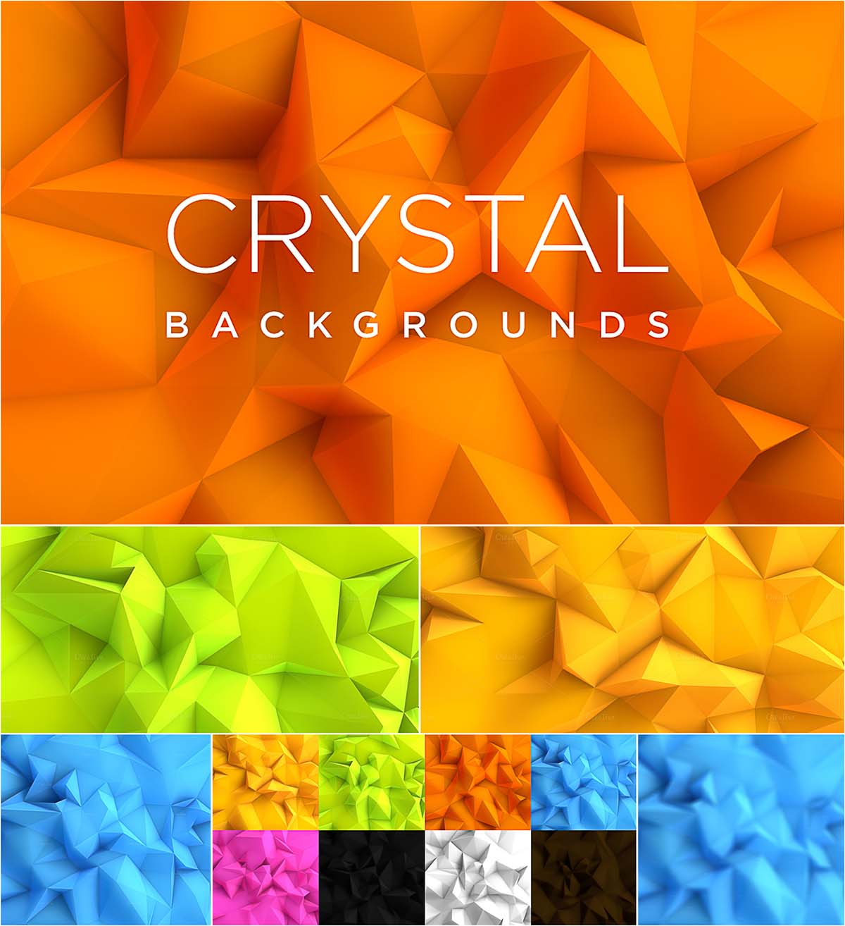 Crystal backgrounds collection
