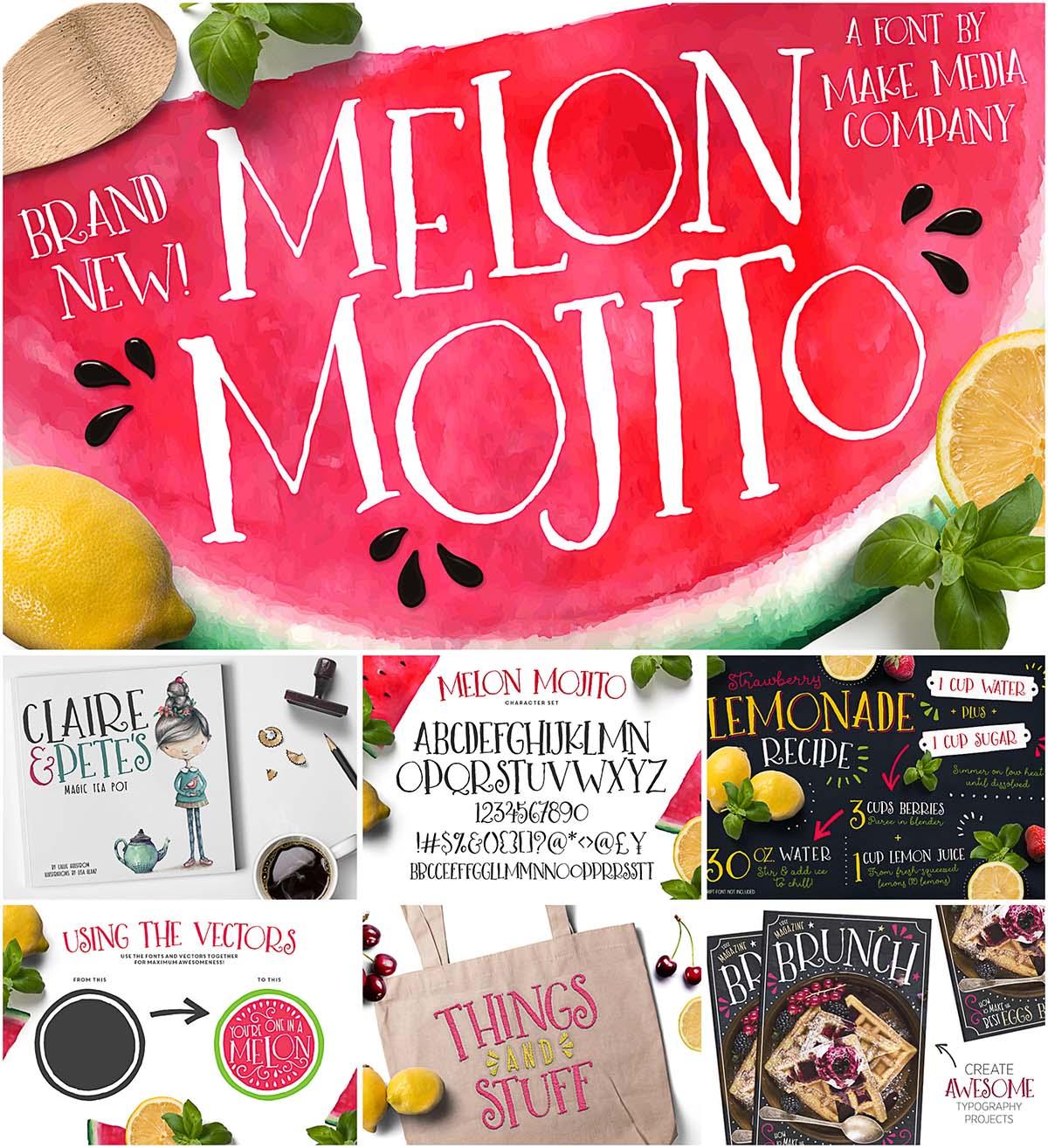Melon Mojito handwritten font