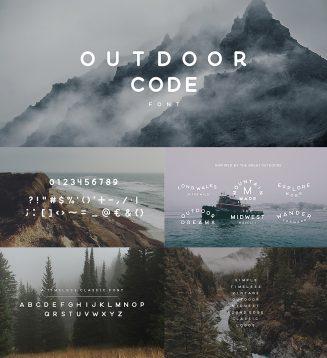 Outdoor code creative font