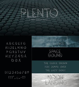 Plento geometric font