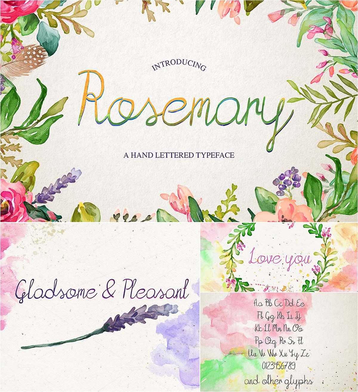 Rosemary simle font