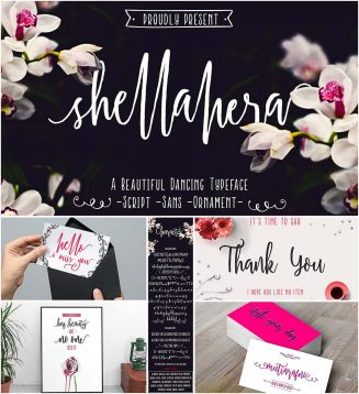 Shellahera brush font